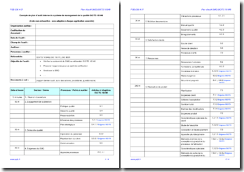 Plan d'audit interne SMQ ISO/TS 16949 (exemple)