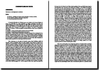 Chrétien de Troyes, Le Chevalier de la Charrette : étude d'un extrait