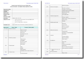Plan d'audit interne processus OHSAS 18001 (exemple)