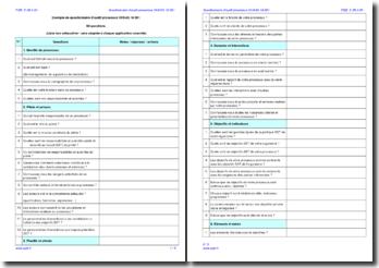 Questionnaire d'audit interne processus OHSAS 18001