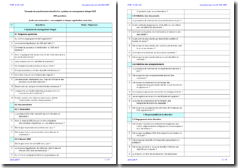 Questionnaire d'audit interne SMI QSE (exemple)