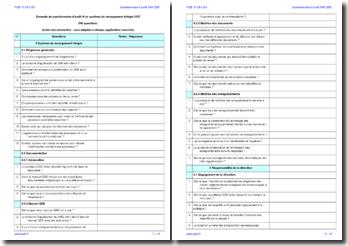 Questionnaire d'audit interne SMI QSE (exemple)