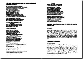 Pablo Neruda : Chant général, Partie V : Le Sable trahi : commentaire de l'épilogue