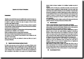 Aristophane, Les Guêpes : fiche de lecture