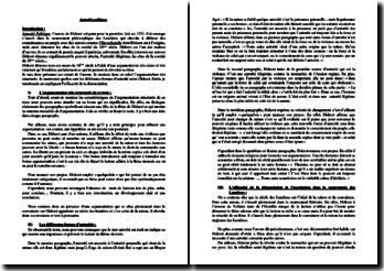 Denis Diderot, Autorité politique : commentaire composé