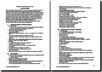 Giono, Un roi sans divertissement, Le suicide de Langlois : lecture analytique