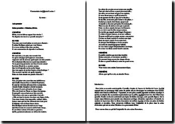 Corneille, Le Cid, Acte I scène 1 : commentaire