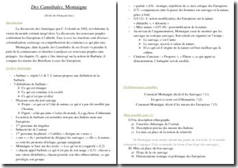 Montaigne, Des Cannibales, Essais, I, XXXI