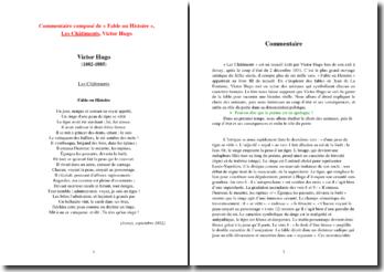 Victor Hugo, Fable ou Histoire : commentaire composé