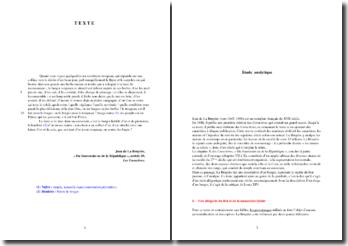 La Bruyère, Caractères, article 29 : Du Souverain ou de la République (analyse)