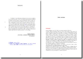 La Bruyère, Caractères, De la Mode, Extrait de l'article 2, Le fleuriste : analyse