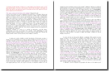 Saint-John Perse, citation à propos de la Poésie (Dissertation)