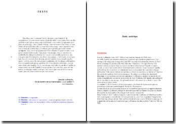 La Bruyère, Caractères, Acis (article 7), De la Société et de la Conversation : analyse