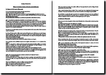 S. Corinna Bille, Emerentia, Les figures parentales : commentaire composé