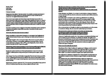 Les inégalités hommes-femmes au travail - État des lieux et loi du 23 mars 2006