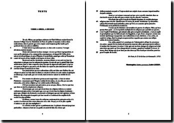 Montesquieu, Lettres persannes, Lettre LXXXV : étude analytique