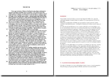 Voltaire, Lettres philosophiques, Lettre I : Sur les Quakers (extrait)