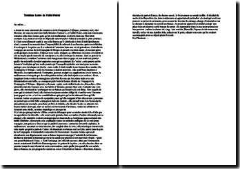 Abbé Poiret, Lettres de Barbarie, Lettre III : commentaire composé