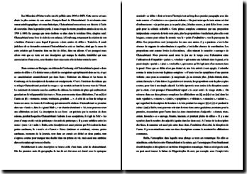 Chateaubriand, Chapitre 9 des Mémoires d'Outre-tombe : étude