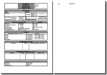 Procédure qualité : profil du personnel