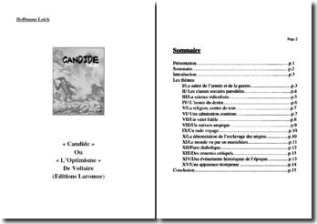 Voltaire, Candide : fiche thématique