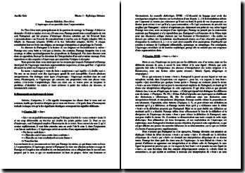 L'équivoque et ses procédés d'argumentation dans Le Tiers Livre de François Rabelais