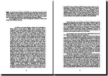 Réalisme et esthétisme dans Madame Bovary de Flaubert et Une vie de Maupassant