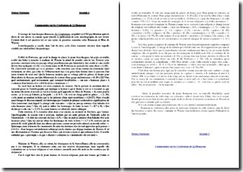 Rousseau, Confessions, Première rencontre avec Mme de Warens : commentaire