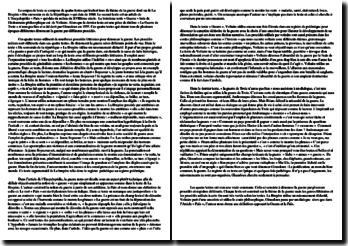 La Bruyère, Du souverain de la République ; L'Encyclopédie, Paix ; Voltaire, Guerre ; Giraudoux, La guerre de Troie n'aura pas lieu, Extrait : commentaire comparé