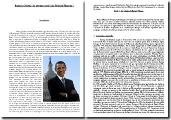 Barack Obama, le premier noir à la Maison Blanche