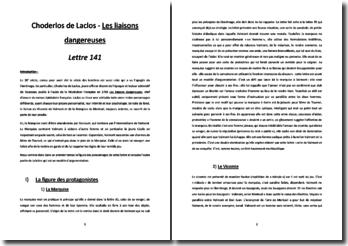 Choderlos de Laclos, Les Liaisons dangereuses, Lettre 141 : commentaire