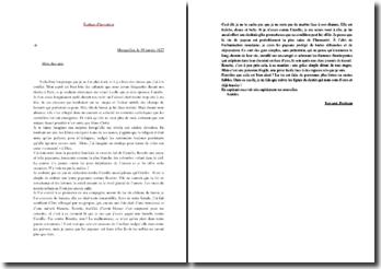Sujet d'invention : Lettre de Perdican à un ami étudiant parisien sur Rosette, une jeune paysanne
