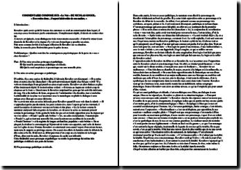 Nicolas Gogol, Le Nez : commentaire d'un extrait