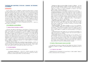 Voltaire, Candide, L'Eldorado, Chapitres 17 et 18 : analyse