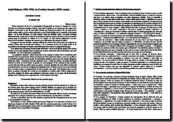 André Malraux, La Condition humaine, Incipit : commentaire