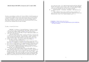 Musset, Lorenzaccio, Acte IV scène 9 : étude analytique