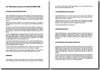 Baudelaire, Petits poèmes en prose (étude)