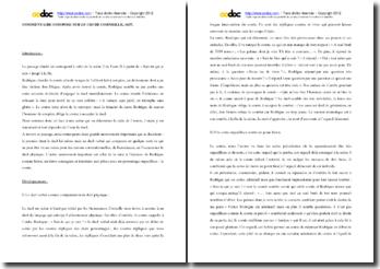 Corneille, Le Cid, Acte II Scène 2 (commentaire)