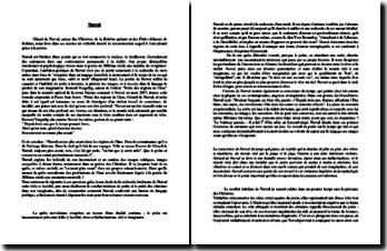 Nerval, Poète des régions de l'âme, citation de Bernard Vargatig : dissertation