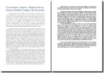 Flaubert, Madame Bovary, 1ère partie, chapitre VII : commentaire