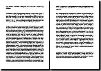 Lampedusa, Le Guépard, Partie V : dissertation