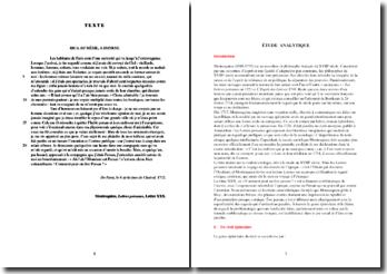 Montesquieu, Lettres persanes, Lettre XXX Comment peut-on être Persan ? : étude analytique