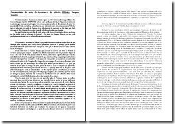 Jacques Cazotte, Olivier, Aventure du Pèlerin : commentaire