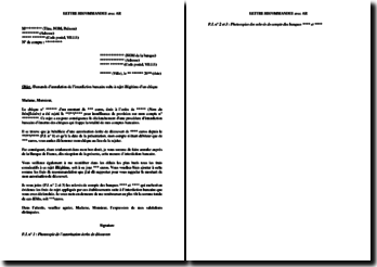 Lettre de demande d'annulation de l'interdiction bancaire suite à rejet illégitime d'un chèque