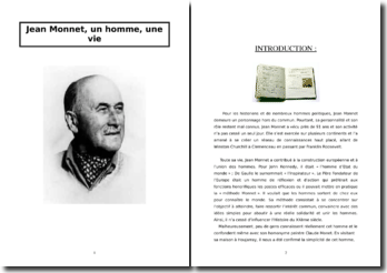 Jean Monnet et la construction européenne