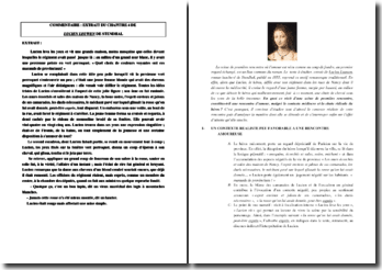 Stendhal, Lucien Leuwen, Chapitre IV : commentaire d'un extrait