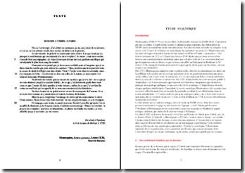 Montesquieu, Lettres persanes, Lettre CLXI Mort de Roxane : étude analytique