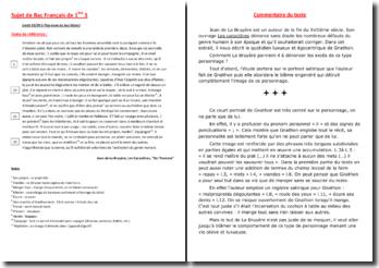 La Bruyère, Les Caractères, De l'homme : commentaire