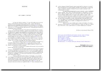 Montesquieu, Lettres persanes, Lettre XXIX (La Hiérarchie religieuse) : lecture analytique