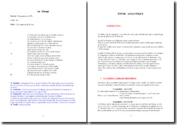 La Fontaine, Le Cierge : étude analytique